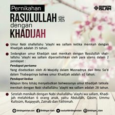 pernikahan rasulullah dengan khadijah... Muslim Quotes, Islamic Quotes, Doa Islam, All About Islam, Learn Islam, Islamic Messages, Self Reminder, Prayer Board, Prophet Muhammad