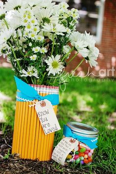 more teacher appreciation ideas -- and thanks to Pinterest I will be able to find reference my ideas when I need them!