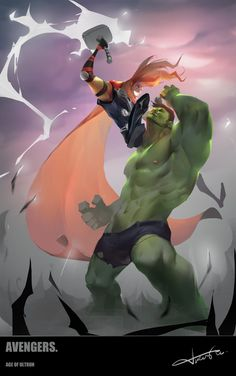 (Thor Vs Hulk) By Nameonprint. Marvel Comic Books, Comic Book Characters, Comic Book Heroes, Marvel Characters, Comic Character, Comic Books Art, Hulk Vs Superman, Hulk Marvel, The Avengers