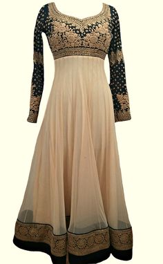 Regal Floor Length #Anarkali, via http://indianhanger.com/shop/images/181308/IFE0232+%286%29+white+pm.jpg/