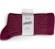 COLLEGIEN produit en France, dans le Tarn depuis 4 générations. Ces chaussons chaussettes  sont le résultat d'une recherche mêlant innovation et tendance.