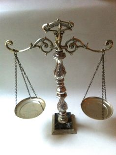 Scales of Justice - Vintage Scale. $32.00, via Etsy.