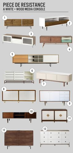 PIece de Resistance: A White And Wood Media Cabinet | www.theanatomyofdesign.com