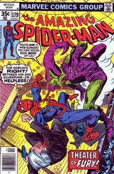 Spider-Man #179 The Green Goblin has captured Spider-Man as he is rushing to the hospital to sign forms for Aunt May's operation.