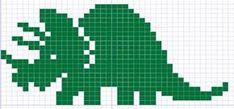 dinasaur knitting charts | Yarn Visions: Dinosaur Knitting Charts