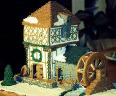 Gingerbread Mill House / Gingerbread House #gingerbread  #christmas