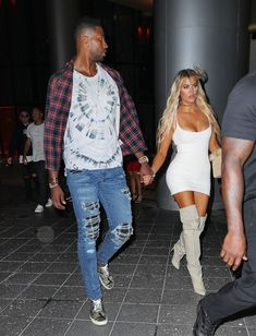 Khloe Kardashian and her new man Tristan Thompson holds hands in Miami
