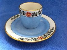 Falcon Ware 1930s Vintage Egg Cup and Saucer