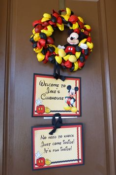 Front door Handmade Mickey Mouse Inspired Balloon by PrettyPartiesndPaint