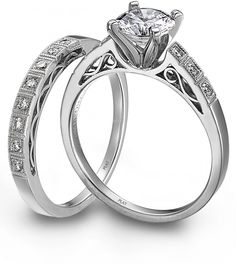 Engagement Ring Photos - Find the perfect engagement ring pictures at WeddingWire. Browse through thousands of photos of engagement rings. Platinum Wedding Rings, Platinum Engagement Rings, Diamond Wedding Rings, Wedding Ring Bands, Diamond Rings, Platinum Jewelry, Ruby Jewelry, Diamond Pendant, Gemstone Jewelry