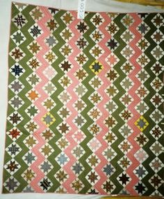 Original Sawtooth Star c. 1890. Photo by The Heritage Quilt Project of NJ.
