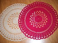 Lovely pattern for a doily rug. Fairly easy too. Crochet Galore: Birthday Doily - November Doily of The Month