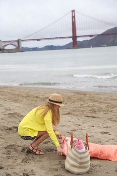 Chrissy Field Beach, San Francisco.. check out the donut stand on the beach: Dynamo Donuts