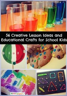 The ultimate guide for crafty teachers! 56 Creative Lesson Ideas and Educational Crafts for School Kids | AllFreeKidsCrafts.com