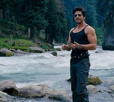 Shah Rukh Khan - Jab Tak Hai Jaan . Movie sucked. But Those arms should come with me...along with the man. hee hee.