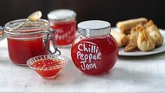 This sweet, spicy chilli and pepper jam is great spread on cream cheese and crackers, or with burgers at a barbecue. A nicely presented jar makes lovely Christmas presents. Equipment and preparation: You will need 3x300ml/10fl oz clean jam jars with lids.