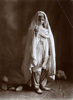 A young Pashtun woman, 1865
