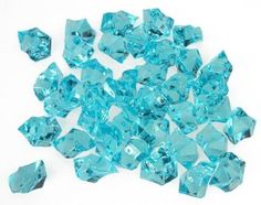 Translucent Turquoise Acrylic Ice Rocks for Vase Fillers or Table Scatters