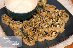 Greek Pinwheel appetizers