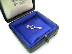 Key to My Heart Pendant. Small 10K Yellow Gold Minimalist