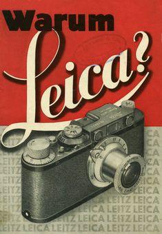 Why Leica? Salesfolder cover, Leica II (D), Via Technoseum Old Cameras, Vintage Cameras, Vintage Ads, Vintage Posters, Vintage Photos, Antique Cameras, Photography Camera, Underwater Photography, Vintage Photography