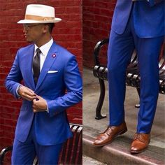 Side Vent Groom Tuxedos Roral Blue Groomsmen Notch Lapel Men Wedding Suits Best Mens Suit (Jacket+Pants+Tie+Girdle) B619. Yesterday's price: US $89.80 (77.70 EUR). Today's price: US $71.84 (62.47 EUR). Discount: 20%.
