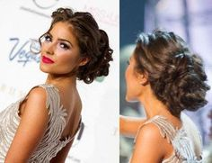 Miss Universe curl loose updo