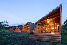 """These """"Modern And Chic Prefab Eco Cabanas"""" are the most unique tiny cabin vacation rentals that you will ever see! This tiny house Prefabricated Cabins, Prefab Homes, Small Tiny House, Modern Tiny House, Tiny Houses, Hotel Cabanas, Eco Cabin, Vacation Home Rentals, Cabin Rentals"""