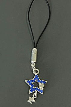 """""""Star Blue"""" hanger for your bag or phone. For sale at: www.trendygoodies.nl"""
