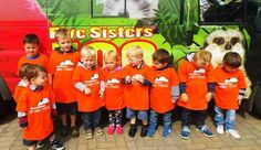 All excited to see the animals at the 5 sisters zoo