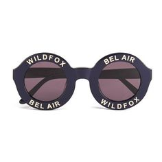 Wildfox Women's Bel Air Sunglasses - Navy Blue/Grey Sun (£148) ❤ liked on Polyvore featuring accessories, eyewear, sunglasses, fillers, wildfox glasses, acetate glasses, acetate sunglasses, round acetate sunglasses and lightweight sunglasses