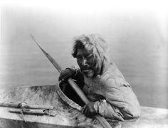 Inupiat in a kayak, Noatak, Alaska, c. 1929 (photo by Edward S. Curtis). Urbanization in Greenland. The natives ...