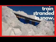 Snow Blower Train Stuck in Snow - Train Stranded in Snow 2019 - Rotary Snow Plow Blower Stuck Snow Plow, Throughout The World, Rotary, Locomotive, Science And Technology, Time Travel, Railroad Tracks, Mother Nature, Paths
