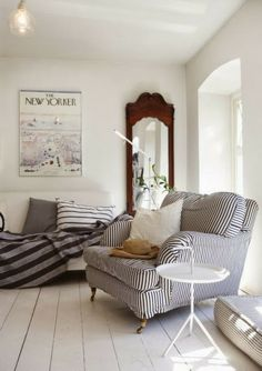{striped oversized chair} for the master