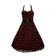 50's Big Polka Dot Dress Red by dresspy2