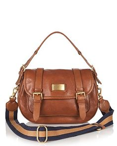 MARC BY MARC JACOBS Saddlery Sophie Leather Shoulder Bag - Fits iPad, book, and more.