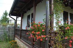 Bogdan și Nicoleta au salvat o casă veche și și-au împlinit visul de a avea un refugiu la țară   Adela Pârvu - Interior design blogger Balcony Design, Neo Traditional, Log Homes, Plants, Houses, Interior, Vegetable Garden, Flowers, Timber Homes
