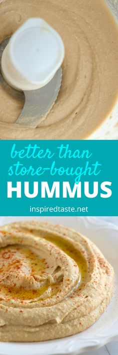 Hummus Recipe (Better Than Store-Bought) How to make hummus that's better than store-bought. See the full recipe and video on How to make hummus that's better than store-bought. See the full recipe and video on Easy Hummus Recipe, Tahini Recipe, Humas Recipe, Base Recipe, Homemade Tahini, Homemade Hummus, Vegetarian Recipes, Cooking Recipes, Healthy Recipes