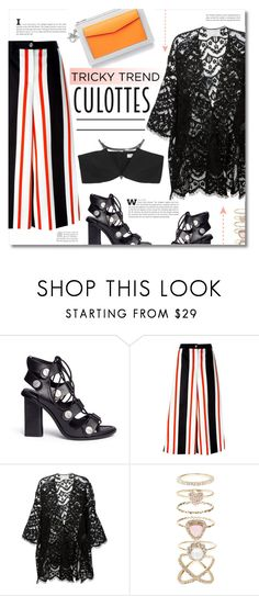 """Tricky Trend: Culottes"" by chocolate-addicted-angel ❤ liked on Polyvore featuring Alexander Wang, Dolce&Gabbana, Chloé, Christian Dior, Accessorize and Thierry Mugler"