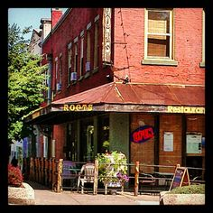 """@Visit Bloomington's photo: """"Love the new flower planter on the patio at Roots!"""""""