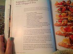 Tomato crostini with whipped feta. Ina Garten.