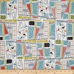 Interplay Patchwork Multi from @fabricdotcom  Designed by Nancy Heffron for P&B Textiles, this cotton print is perfect for quilting, apparel and home decor accents.  Colors include white, black, blue, green, pink, orange and soft red.