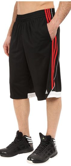 adidas 3G Speed Short (Black/Scarlet/White) Men's Shorts - adidas, 3G Speed Short, AH6434, Men's Athletic Performance Clothing Bottoms Shorts 10 Inseam, Shorts, Bottom, Apparel, Clothes Clothing, Gift, - Street Fashion And Style Ideas