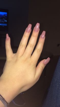 Coffin shaped nails in a mauve color, in loveeeeee!!! If you live in Arizona 7Dayspa & salon is the place to go, great service and environment