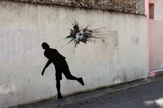 Humorous New Site-Specific Paintings on the Streets of Paris by Pejac