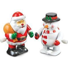 CLOCKWORK CHRISTMAS CHARACTER TOY SECRET SANTA XMAS GIFT NOVELTY STOCKING FILLER