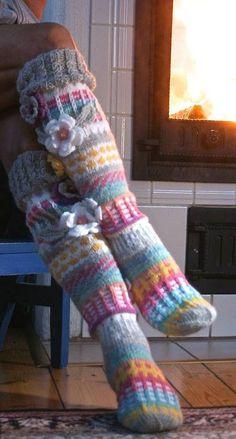 Over The Knee SocksThigh High SocksHand knit knee socks #aff