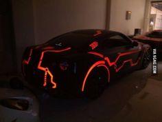 Glow in the dark TRON GT-R