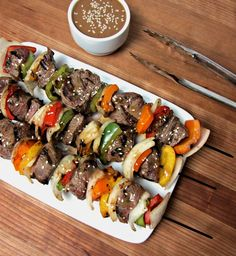 Sesame Ginger Beef Kebabs! light & lean and ready in 30 minutes!