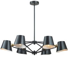 $598 Black and Gold Accented Chandelier